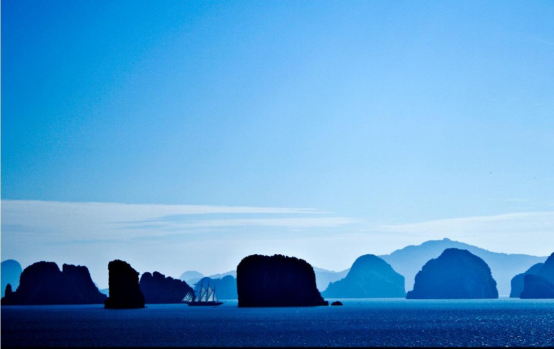 Phang Nga Bay - blue hue